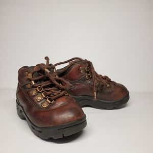 Thom McAn Brown Leather Lace Up Shoes Boots Sz 6.5